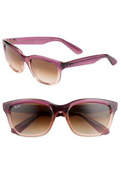 I need these! the pink is subtle and cute! Ray-Ban Updated Wayfarer-nordstrom.com #sunglasses