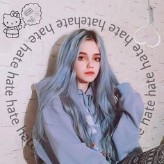 Preferred Hair Blue Long Straight Wig of Human Hair with Baby Hair Brazilian Ombre Lace Front Wig for Women Blue Hair Aesthetic, Baby Blue Hair, Straight Hairstyles, Cool Hairstyles, Tmblr Girl, Coloured Hair, Ulzzang Girl, Mode Inspiration, Balayage Hair