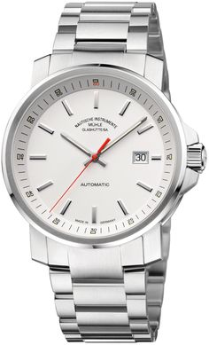 Muhle Glashutte Watch 29er Big #bezel-fixed #bracelet-strap-steel…