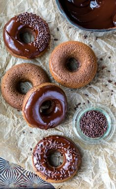 You Have Meals Poisoning More Normally Than You're Thinking That Baked Chocolate Donut Recipe Makes Soft Baked, Not Fried, Chocolate Cake Donuts. They're Topped With Rich Homemade Chocolate Frosting. Chocolate Cake Donuts, Homemade Chocolate Frosting, Chewy Chocolate Cookies, Homemade Donuts, Homemade Recipe, Homemade Breads, Chocolate Desserts, Chocolate Chips, Donut Recipes