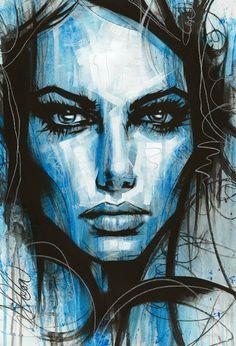 Portrait paintings by artist Leanne Dolan Abstract Portrait Painting, Abstract Face Art, Abstract Drawings, Portrait Art, Portrait Paintings, New Retro Wave, Grunge Art, Art Drawings Beautiful, Painting Inspiration