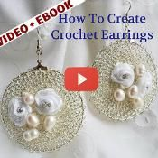 Wire Crochet Earrings Tutorial and Video - via @Craftsy