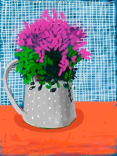 (UK) iPad digital work by David Hockney ). David Hockney Ipad, David Hockney Art, David Hockney Paintings, David Hockney Photography, Pop Art Movement, Artist Sketchbook, Ipad Art, Landscape Drawings, Art Design