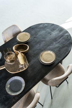 Mango Wood Dining Table, Style And Grace, Metallic Paint, Painting On Wood, Painted Metal, Latte, Black, Bohemian, Eyes
