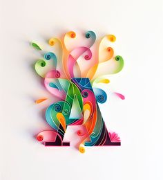 Colorful Quilled Typography by Sabeena Karnik | Colossal