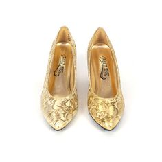 Gold Brocade Pumps, $72, now featured on Fab.