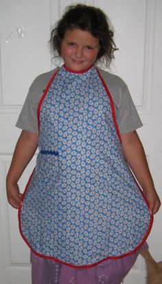 Full Apron Red White and Blue Vintage by keeperofthedragonfly,