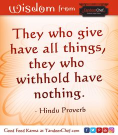 Words of wisdom #Indian #proverb #wisdom #quote #TandoorChef #Hindu