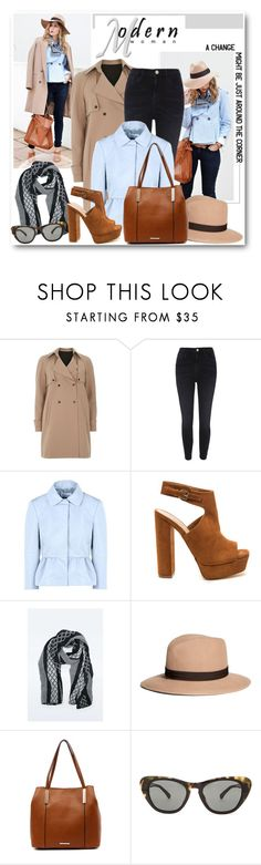 """""""Modern Woman"""" by brendariley-1 ❤ liked on Polyvore featuring Behance, Dorothy Perkins, River Island, RED Valentino, Brooks Brothers, Tony Bianco, Erdem and modern"""