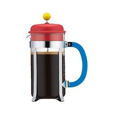 Bodum Caffettiera  Cup French Press, Red/Green/Blue ($15) ❤ liked on Polyvore…