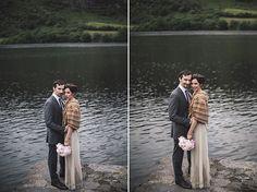 wedding portrait by the lake - Read more on One Fab Day: http://onefabday.com/gougane-barra-hotel-wedding-pawel-bebenca/