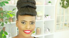 Are you looking for a beginner friendly faux bang bun idea? This hair updo is all you need using jumbo hair it is an easy how-to hair bun with faux bangs for your protective styling ideas and special Natural Hair Updo, Short Hair Updo, Short Hair Styles, Natural Hair Styles, Hairstyles With Bangs, Trendy Hairstyles, Short Haircuts, Diy Hair Bun, Messy Hair