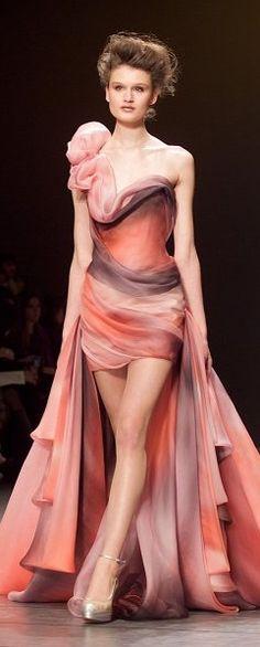 Georges Chakra ~ Vestido con precioso degradado de color