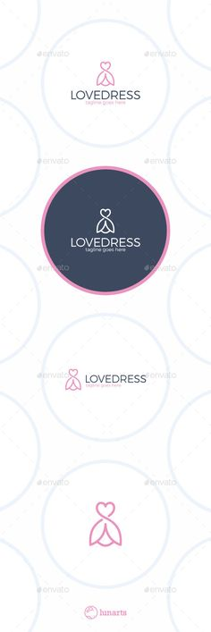 Love Dress Logo - Flower Line  #hanger #heart #Ladies Fashion • Available here → http://graphicriver.net/item/love-dress-logo-flower-line/12935981?s_rank=245&ref=pxcr