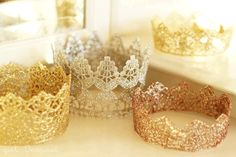 Easy Lace Princess Crowns DIY - so cute!