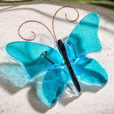 Find beautiful J. Devlin glass home decorations like this fused glass butterfly online through the Uncharted Visions glass decor store! Our selection is varied, elegant and always growing.