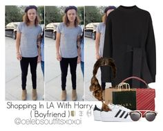 """""""Harry"""" by idaln ❤ liked on Polyvore featuring Proenza Schouler, Yves Saint Laurent, Zara, adidas, Christian Dior, Topshop, OneDirection and onedirectionoutfits"""