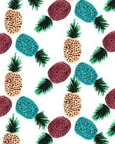 Weird Pineapples. #pattern #illustration #fruit