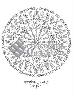 Mystical elegance, de Amanda Claire Designs. Mandala disponible para colorear en  https://chocolateillustration.com/ilustraciones/mystical-elegance/  #chocolateillustration #dibujosparapintar #colorear #yocoloreo #amandaclairedesigns #mysticalelegance #dibujosparacolorear #mandalas