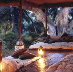 "BBC Boracay says: "" Lovely wooden deck with romantic light - right next to a huge tree..Very nice!"""
