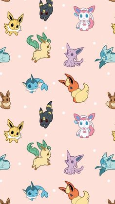 Eevee Wallpaper, Cute Pokemon Wallpaper, Cute Disney Wallpaper, Kawaii Wallpaper, Cute Wallpaper Backgrounds, Wallpaper Iphone Cute, Cute Cartoon Wallpapers, Apple Wallpaper, Screen Wallpaper