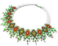 Free pattern for beaded necklace Irma in boho style U need: seed beads 11/0 round