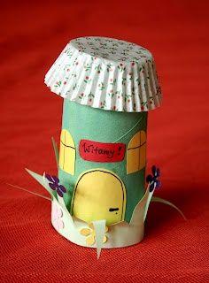 Toilet paper tube craft.