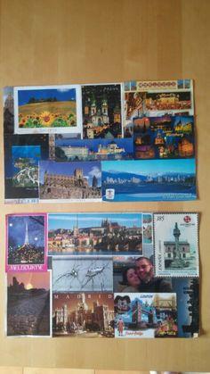 I love postcards - tovagliette per la colazione diy