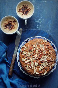 Nolen Gurer Cake (Cardamom Flavored Whole Meal Jaggery Cake) #egglesscake #vegancake #wholemealcake #jaggerycake #indiancake #nolengurercake #gurkacake #healthycake #lunchpackidea #wholewheatcake #wholewheatjaggerycake #dairyfreecake #eggfreecake