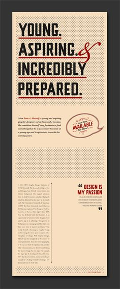 Most awesome resume I have ever seen! The CV Publication by Sean A. Metcalf, via Behance. pretty creative and incredible. Web Design, Resume Design, Layout Design, Print Design, Cv Inspiration, Graphic Design Inspiration, Portfolio Resume, Portfolio Design, Creative Portfolio