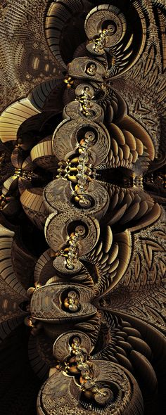 MetallicBaroque, FeatheredWish by FractsSH.deviantart.com fractal art made with mandelbulb 3d