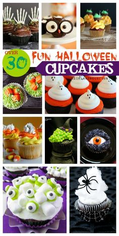 Over 30 fun Halloween cupcakes