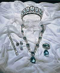 Aquamarine tiara and parure belonging to the Spanish royals - #Aquamarine #Tiara - #RoyalTiara from Spain