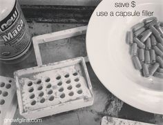Save Money on Whole Food Supplements by Using a Capsule Filler | Are you taking any whole food supplements like maca, cayenne pepper, or spi...