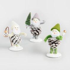 Pinecone Gnomes Set of 3 (ad)