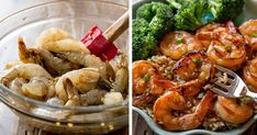 Make This Healthy, Delicious Shrimp Recipe In Just 20 Minutes For Dinner Tonight! Y Food, Good Food, Food And Drink, Gourmet Recipes, Cooking Recipes, Healthy Recipes, Vegetable Dumplings, Shrimp Recipes, Dinner Tonight