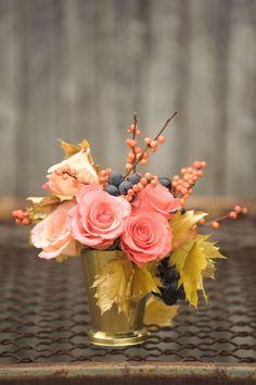 Roses, Maple Leaves, Grapes, Ilex Berries - great colors