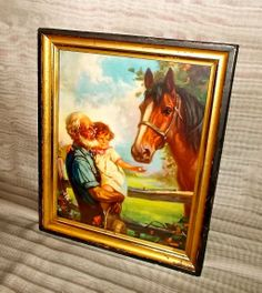 Hy Hintermeister Calendar Print of Old Fashioned Friendship -  Girl with Horse
