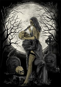 Goth art so Art Deco. Dark Fantasy Art, Dark Gothic Art, Dark Artwork, Skull Artwork, Grim Reaper Art, Beautiful Dark Art, Skeleton Art, Skeleton Love, Arte Obscura