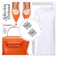 """""""Orange Look"""" by lucky-1990 ❤ liked on Polyvore featuring Gianvito Rossi"""