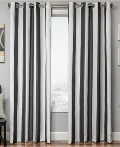 Softline Sunbrella Stripe Window Treatment Collection - Curtains & Drapes - for the home - Macy's