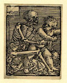 Sebald Beham, Germany - Death and the Child, Woodcut, 1520-1550.