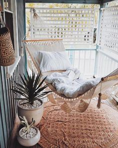 Make the most of your front porch with these ideas on how to design and makeover your space into an entertaining oasis—if you've got a small or screened in porch, hang a hammock for a cozy spot to read or lounge, rain or shine.