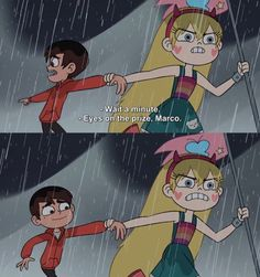 "Star: ""Eyes on the prize, Marco. I'll just be in the corner melting into a puddle if you need me - Starco Dreamworks, Starco Comic, Pixar, Star Y Marco, Cartoon Crossovers, Eyes On The Prize, Disney Xd, Kawaii, Star Butterfly"