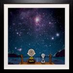 """If you're a lover of the stars, make sure you grab a """"Thoughts in our stars,""""print in which the stars are from the NASA archives! This is from Art You Grew Up With."""