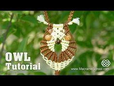 Multicolored Macramé Owl - Necklace Tutorial - YouTube