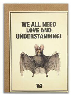 """""""We all need love and understanding!"""".   #messageearth #sustainable #greetingcards #sustainability #eco #design #ecodesign #vintage #cards #peculiar"""