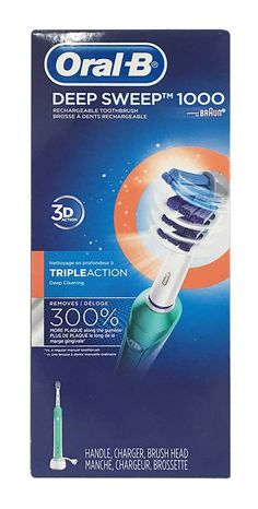 The Oral-B Deep Sweep 1000 provides a clinically proven superior clean vs. a regular manual toothbrush.  #buythecase