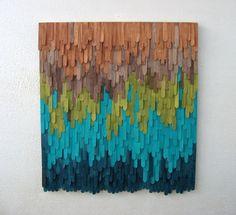 Wood Sculputre Wall Art #coloreveryday