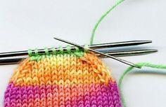 Sockentraum: Sockenspitze im Maschenstich schließen
